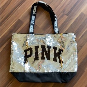 Pink victoria's  Secret bling tote